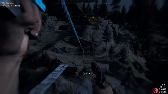 the zipline is the best way to reach the other side.