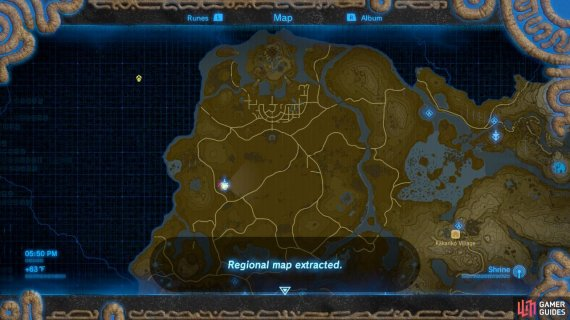 Central Tower Central Hyrule Region Towers And Shrines The Legend Of Zelda Breath Of The Wild Gamer Guides