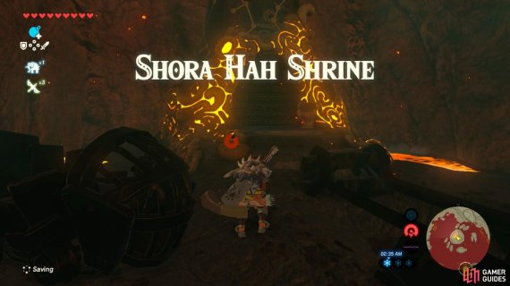 This Shrine is tucked in a lava lake to the northwest of Death Mountain's summit