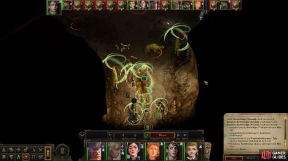 Haste will help you clear out the Trollhounds in the cave,