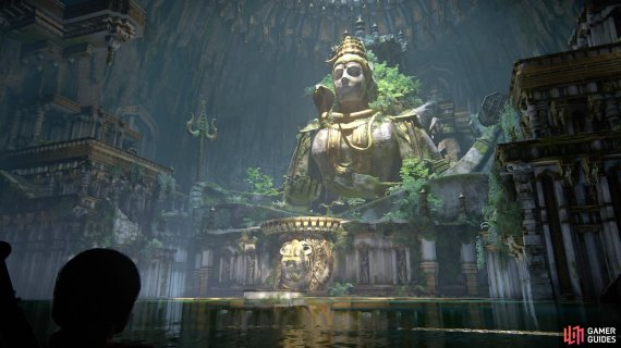 In the next room with the giant Shiva