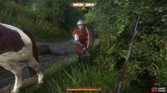 Defeating the knight in combat is by far the most entertaining option.