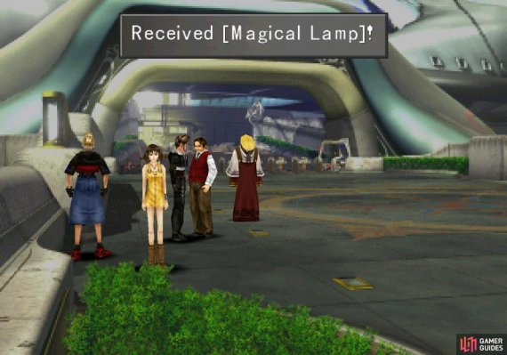 then talk to him again to acquire the Magical Lamp