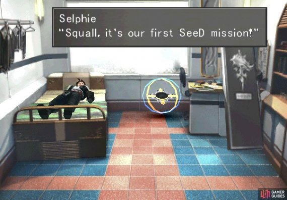 Even sleep is no reprieve, as Squall will be awakened by Selphie