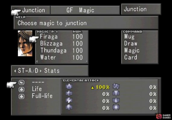 Junction fire elemental magic to your Elemental Attack