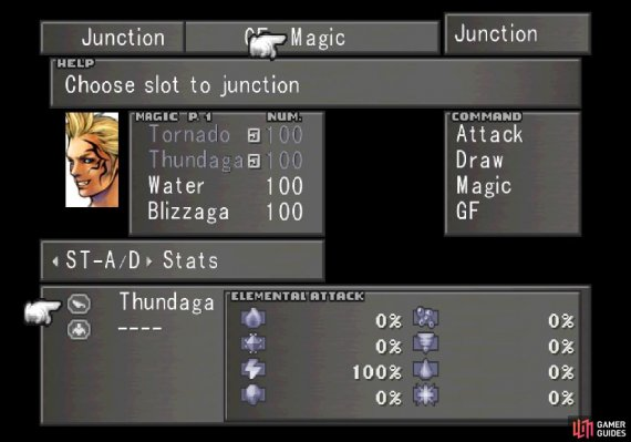 Once Selphie joins your party, junction GFs and magic to your characters, and if you can, junction Thunder/Thundaga to your Elemental Attack