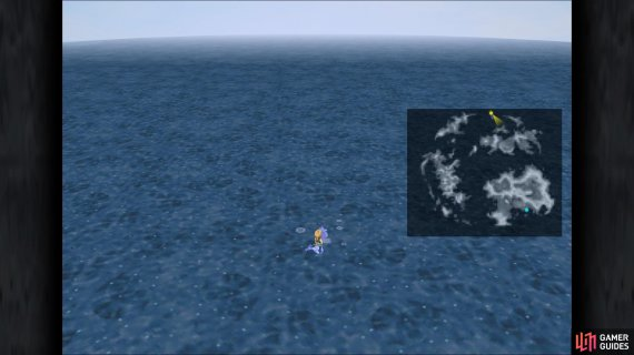 The location of Dive Spot 1 in the game