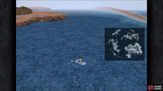 The location of Dive Spot 2 in the game