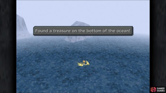 The location of Dive Spot 5 in the game