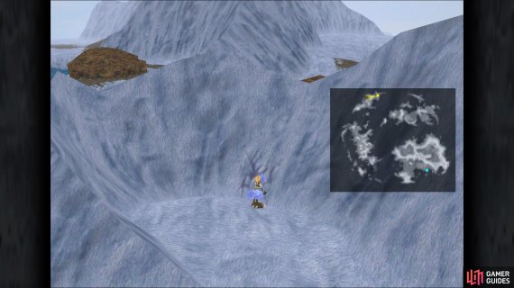 The location of Mountain Crack 1 in the game
