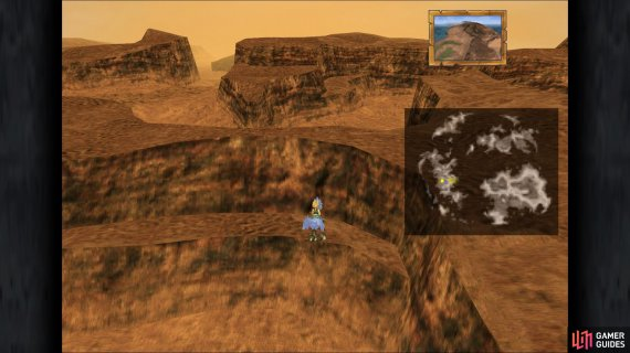 The location of Mountain Crack 3 in the game