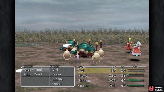 Quina needs to use the Eat command on low HP enemies