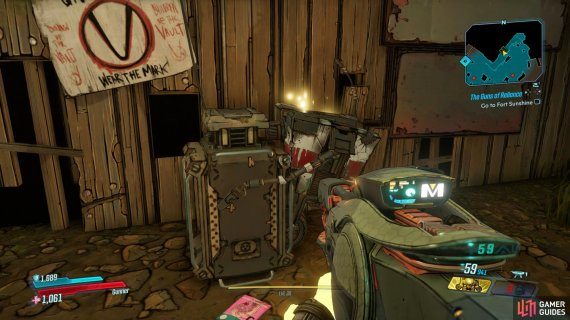 the Dead Claptrap can be found under some stairs.