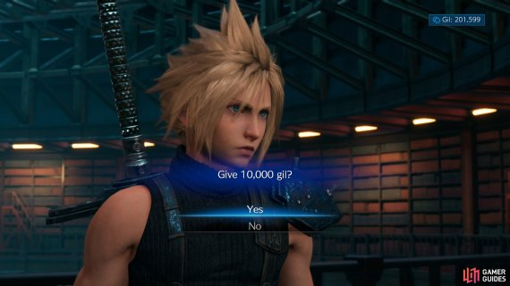 Pay Hart 10,000 Gil for some info,