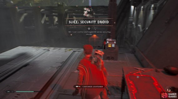 to get the Slice Security Droid upgrade.