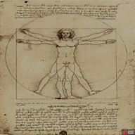 The real Academic Painting looks exactly like the DaVinci piece