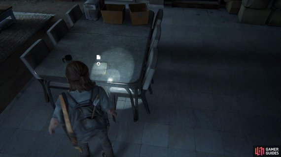 Use the truck to reach the buildings second floor, then go into the room on the right to find an Artefact on the table