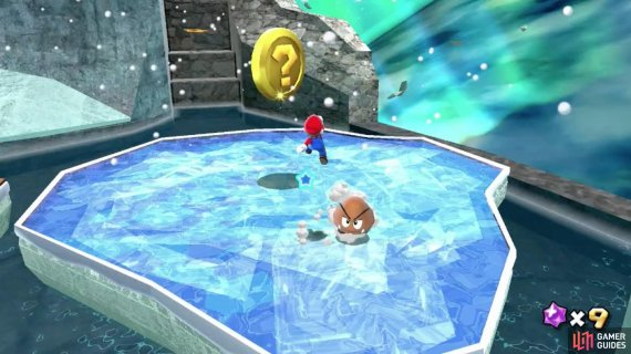 Touching this coin will make the Ice Flower appear