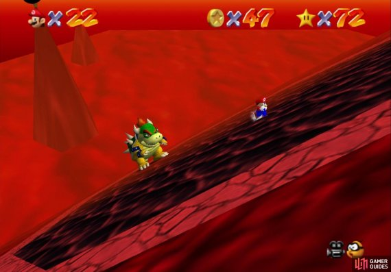 Bowser will tilt the entire platform throughout this fight