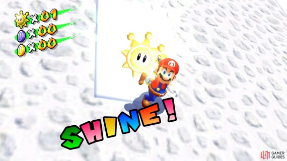 and you'll be able to collect your first Shine Sprite!