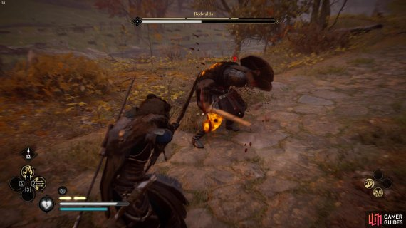 you can weaken Redwalda by shooting at his weak points whilst time is slowed.