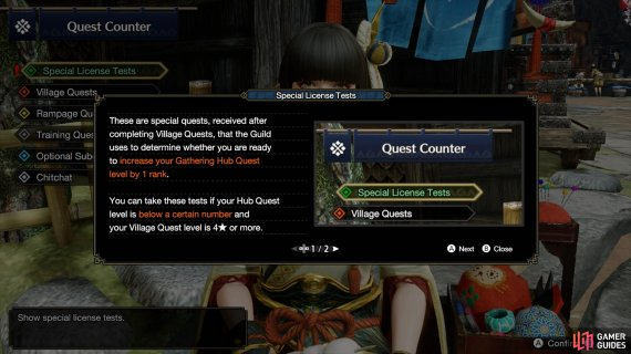 You'll get this tutorial after finishing three 4-star Village Quests while at HR1.