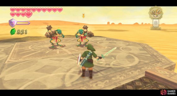 These Lizalfos should die quicker against your improved sword.