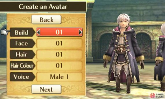 Fire Emblem: Awakening lets you create your own character who will fight in battles.