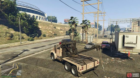 then collect the Tow Truck from the south of Lost Santos.