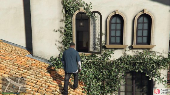 and use the open window to gain access to the house.