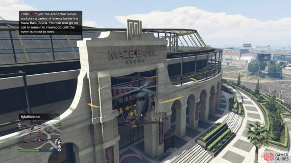 to find the signal jammer sitting on top of the Maze Bank Arena entrance.