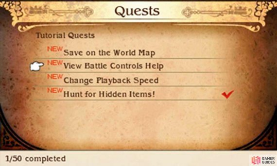Tutorial Quests are great because you can learn the game mechanics AND get rewarded at the same time!