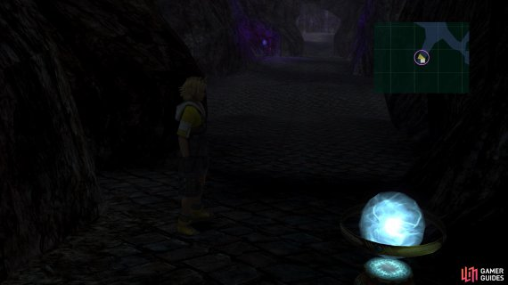 The Save Sphere at the start is the only one in the dungeon