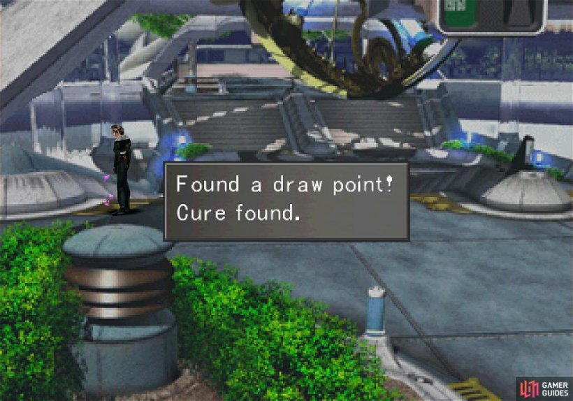 Nab a Cure Draw Point as you leave Balamb Garden
