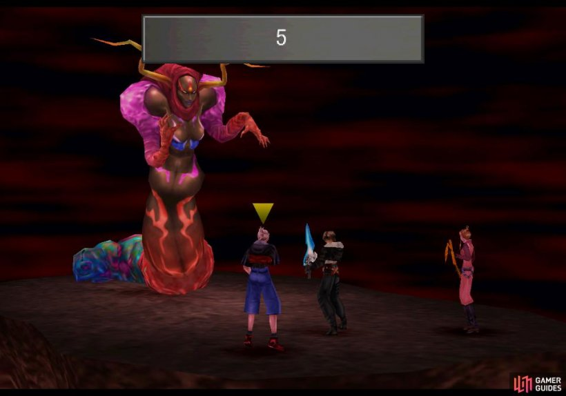 The eleventh Sorceress is far stronger than the others, performing a rather quick countdown