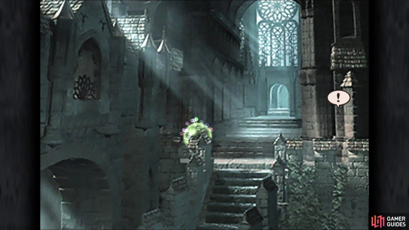 The location of Kain's Lance at the beginning of Memoria