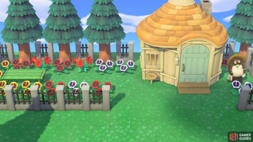 Lots of flowers and fencing increase your island's rating