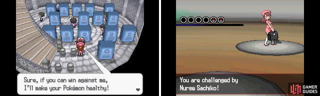 Nurse returns to offer free heals for your Pokemon.