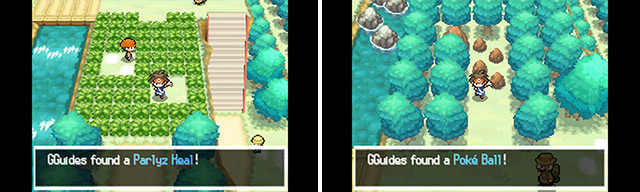 You'll find handy items littered all across Unova, both in plain sight (left) and out of sight (right).