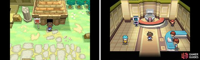 Conveniently, you can use Fly to return to this Pokemon Centre.