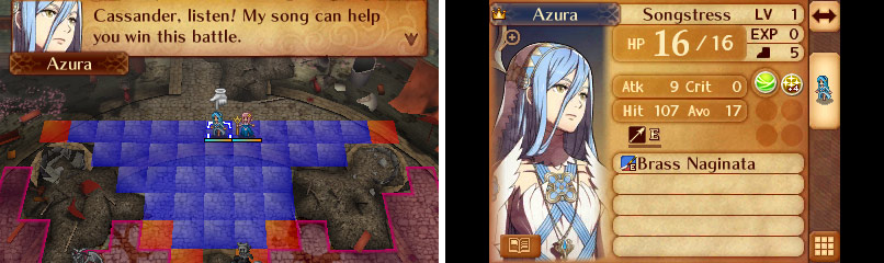Azura will refresh a unit of your choice each turn. Handy!