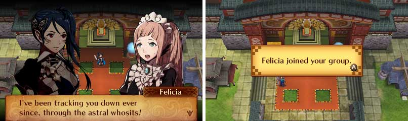 If you're playing as the male Avatar, Jakob be here, not Felicia.