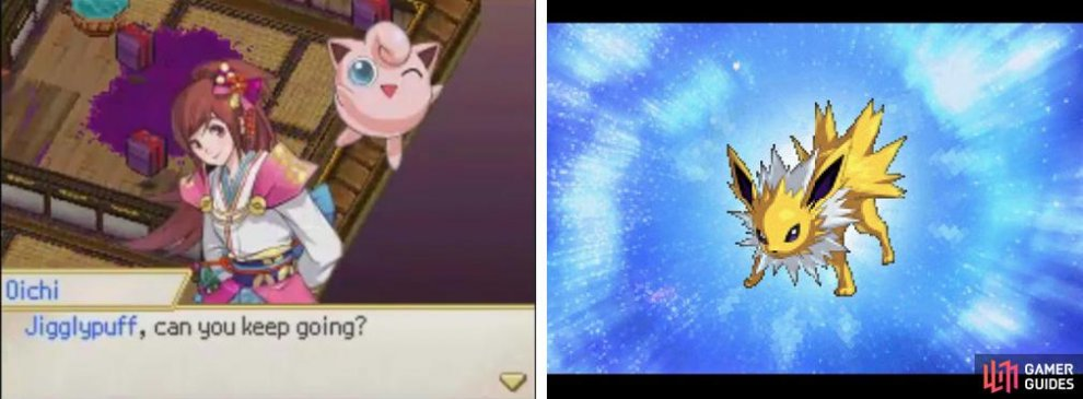 Can Jigglypuff keep going? And hey, it's Jolteon!