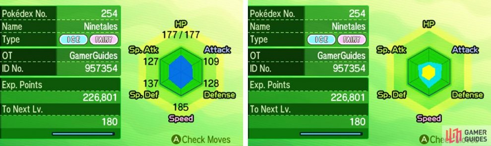 The hidden stat display is geared towards hardcore Pokemon trainers.