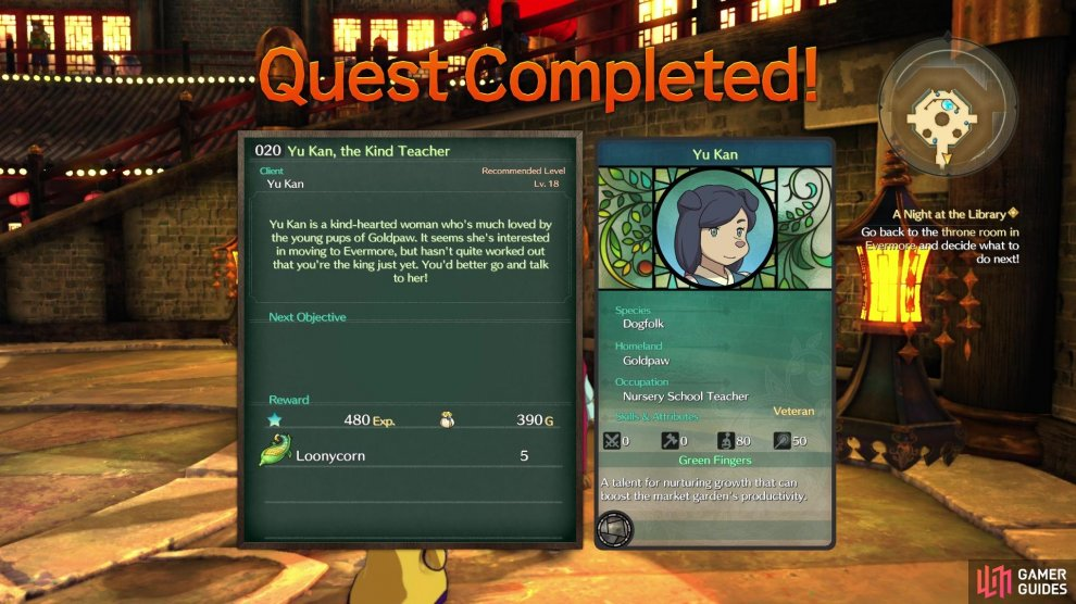 Sidequest 020 gives you the Loonycorn needed to finish Alice's quest