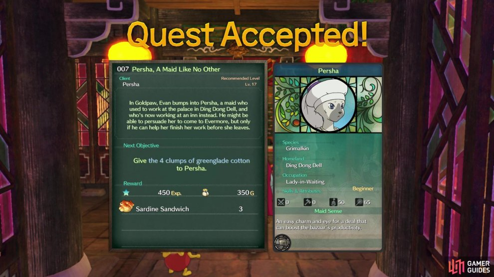 You'll know a sidequest rewards a new citizen by the stats card on the right side
