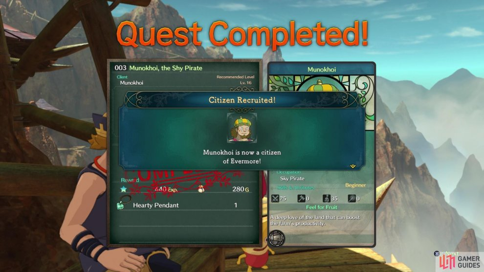 You can begin recruiting new Citizens by doing other sidequests, although there are only so many at this point