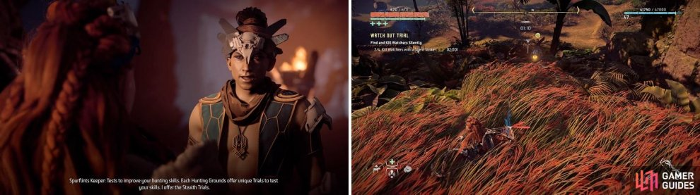 The Spurflints Hunting Grounds' trials focus on stealth, although only one really requires using it.