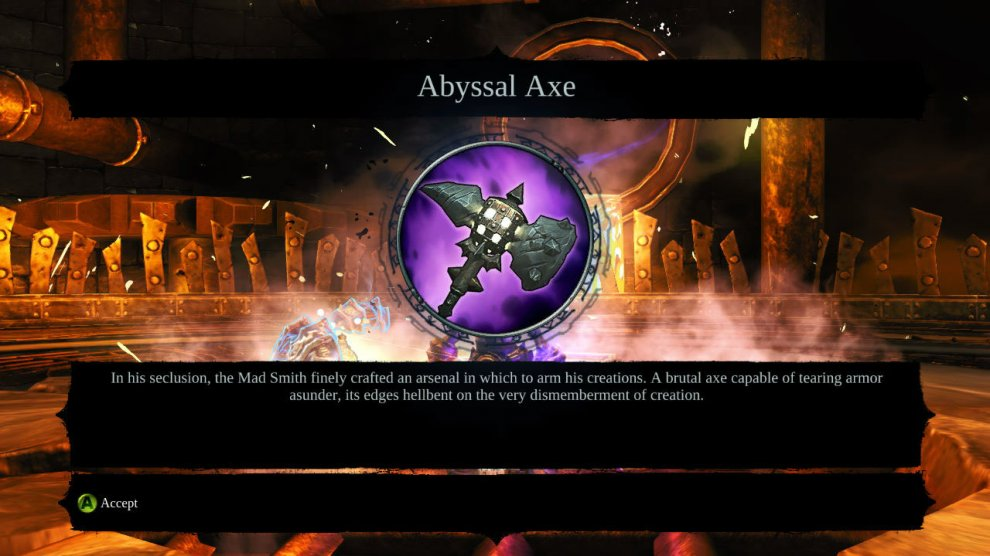 With that final challenge you are done, congratulations you've completed and found all the treasure in the Abyssal Forge DLC!