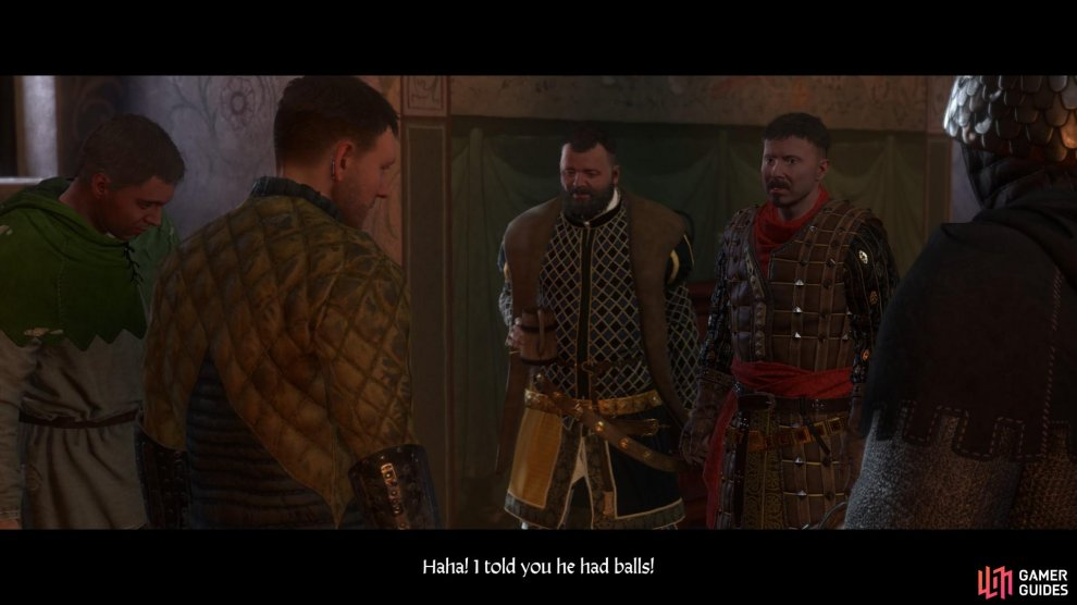 When you return to Rattay you will have the opportunity to betray Zbyshek or reward him.